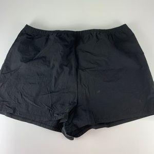 Tropical Escape 20W Black Swim Shorts Lined